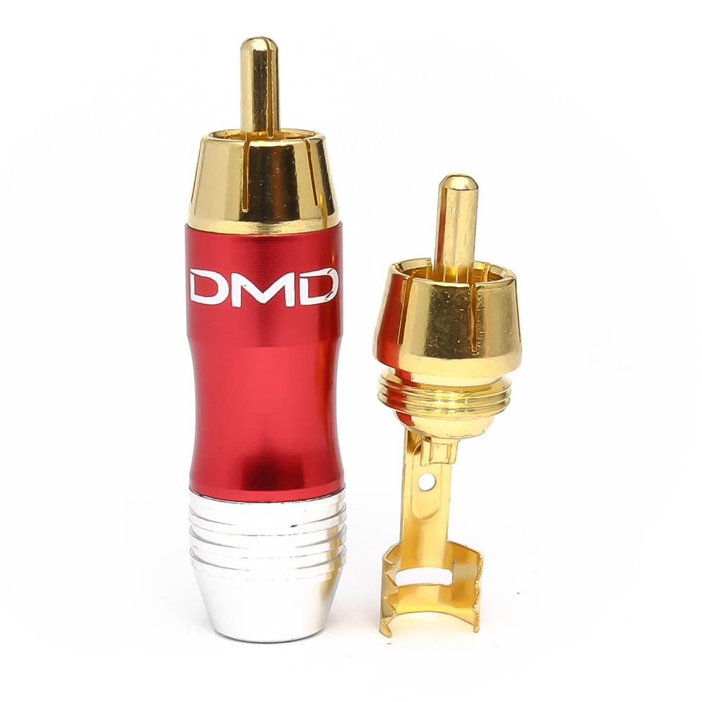 plug-rca-macho-aluminio-jc-2000-vermelho-conector