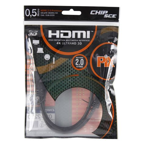 0afe3df00 Cabo HDMI 2.0 19 Pinos 4K 3D - Central Cabos Mobile