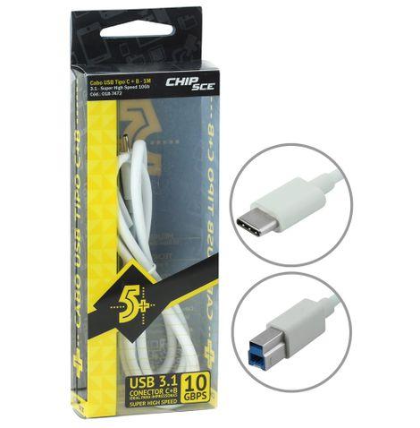 cabo-usb-c-para-impressora-1-metro-frente