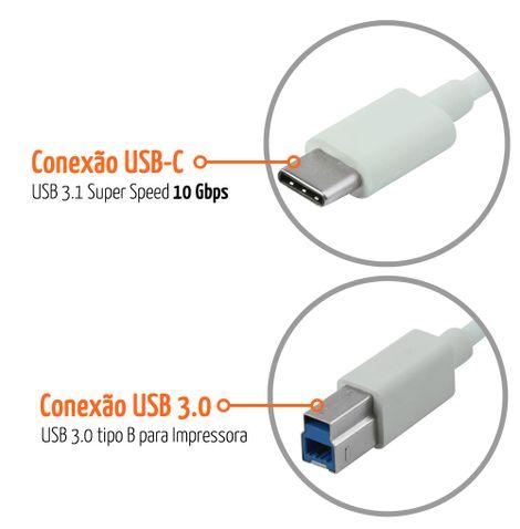 cabo-usb-c-para-impressora-1-metro-conector