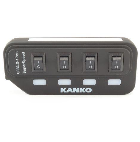 Hub-USB-3.0-com4-Portas-alimentacao-5v-2a-KC-0252-Kanko-frente