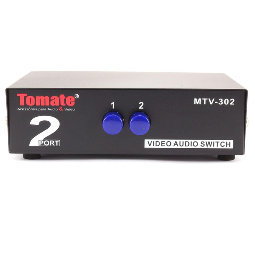 Switch-Audio-e-Video-RCA-2-Portas-MTV-302-frente