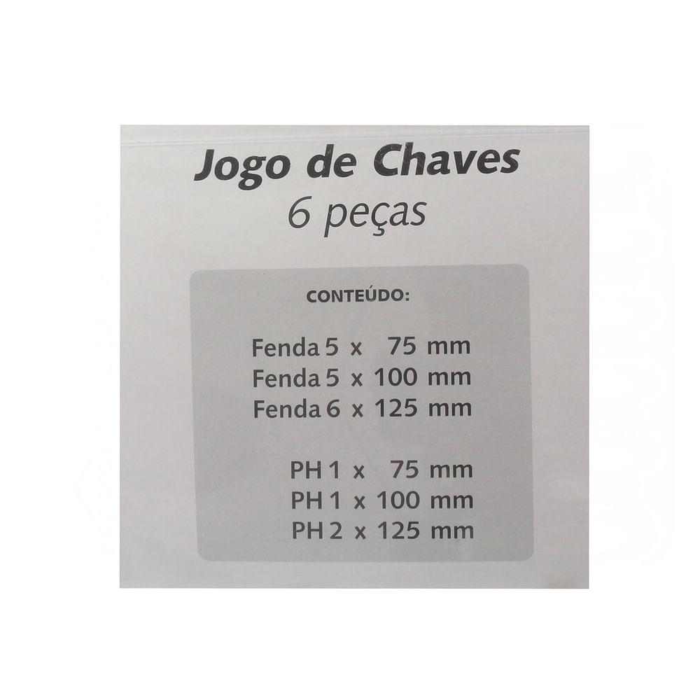 Jogo-de-Chave-Fenda-e-Philips-Magnetica-com-6-Pecas-7029-traseira