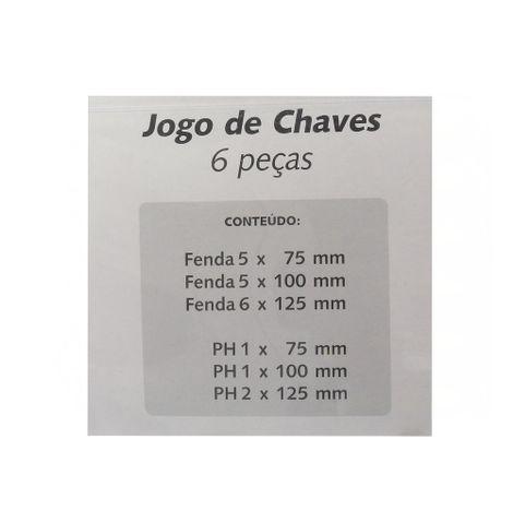 Jogo-de-Chave-Fenda-e-Philips-Magnetica-com-6-Pecas-7029-frente