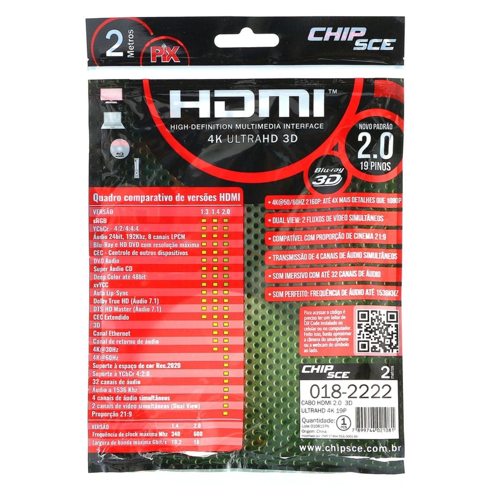 Cabo-HDMI-2.0-19-Pinos-4K-3D-2-Metros-traseira