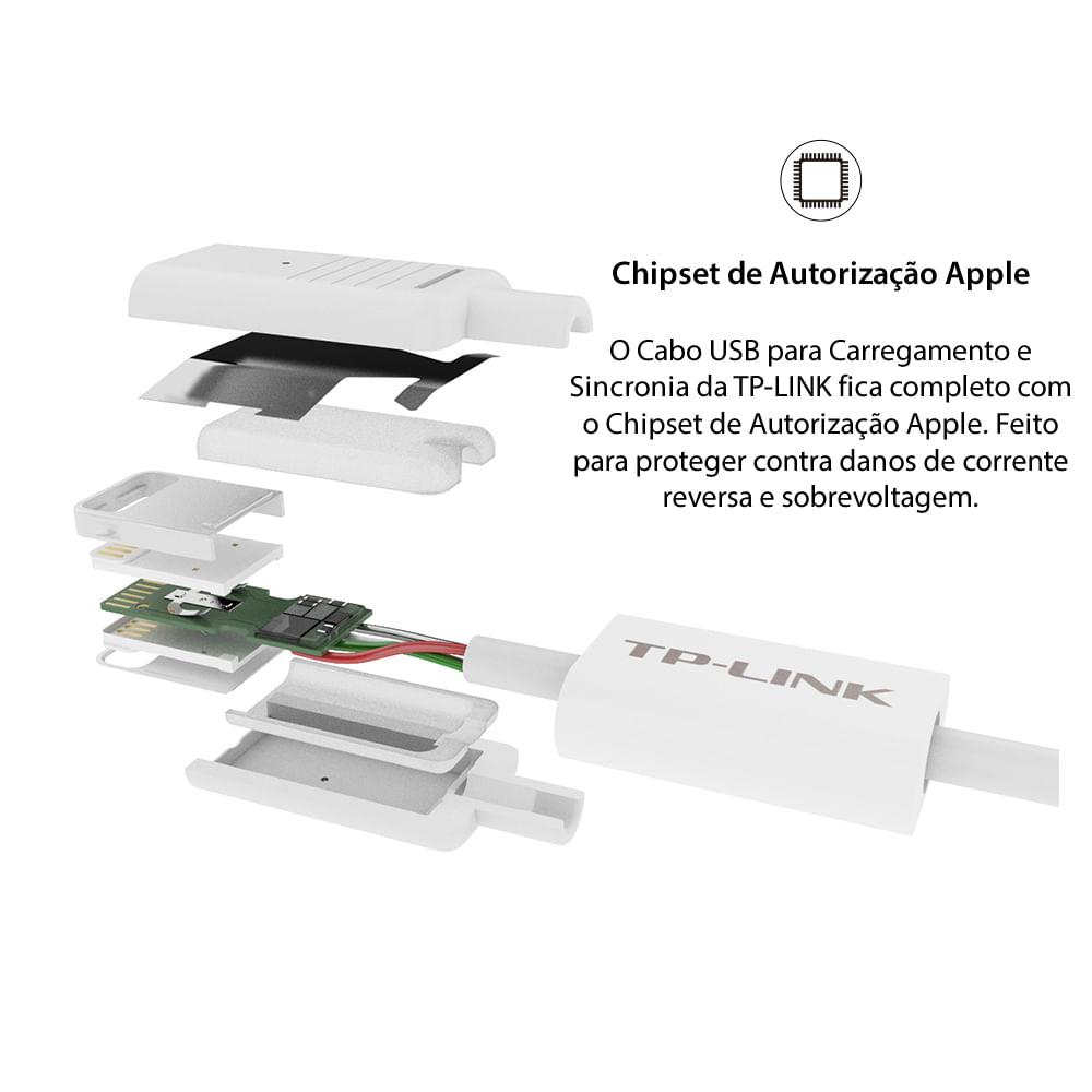 cabo-usb-para-carregamento-e-sincronia-tl-ac210-conector