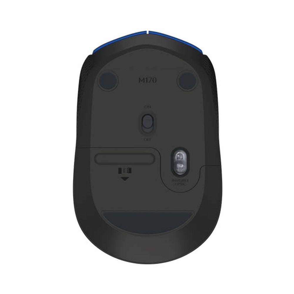 mouse-optico-usb-wireless-m170-azul-traseira