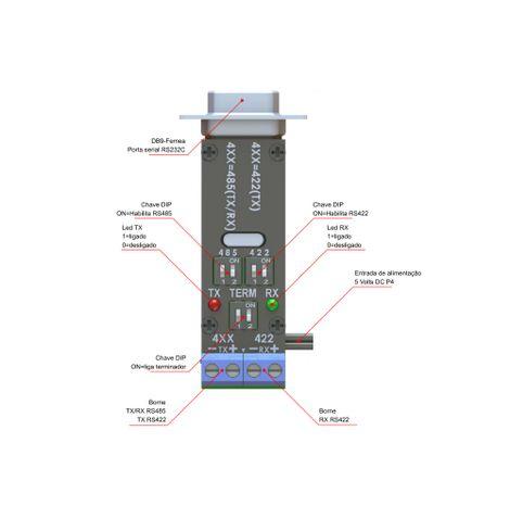 conversor-serial-rs232-para-rs485-422-externo-ef-232-485-traseia