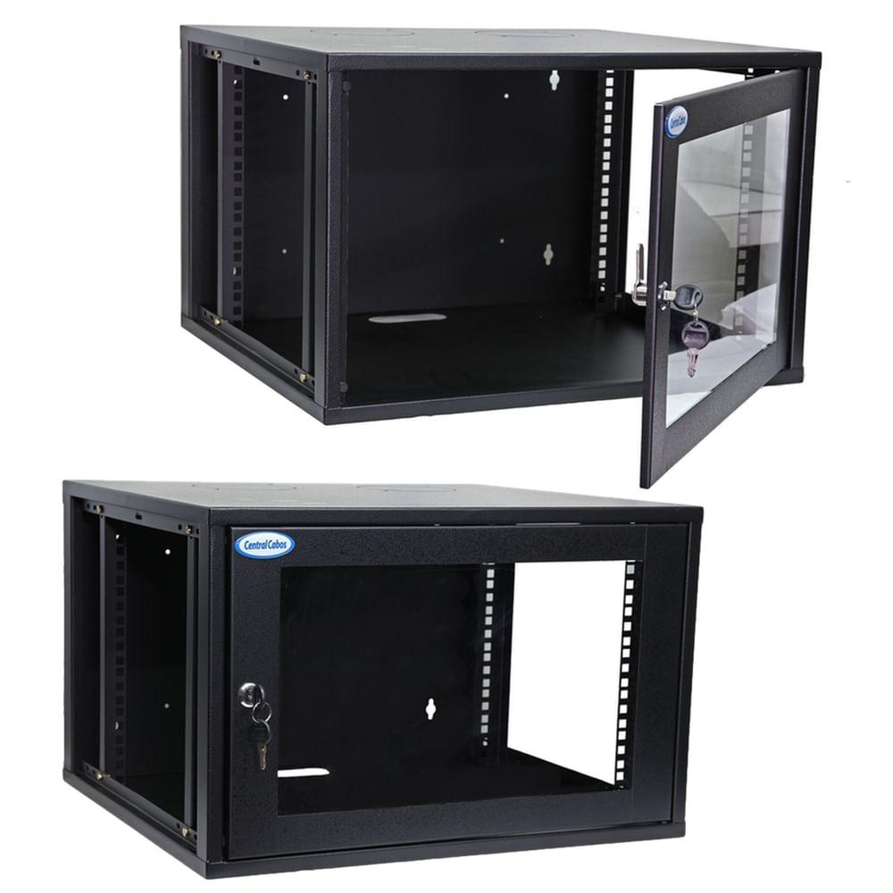 Mini-Rack-de-Parede-7U-aberto