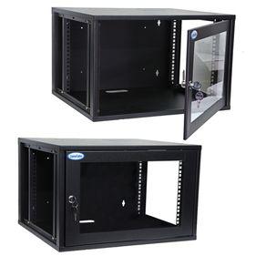 Mini-Rack-de-Parede-8U-aberto