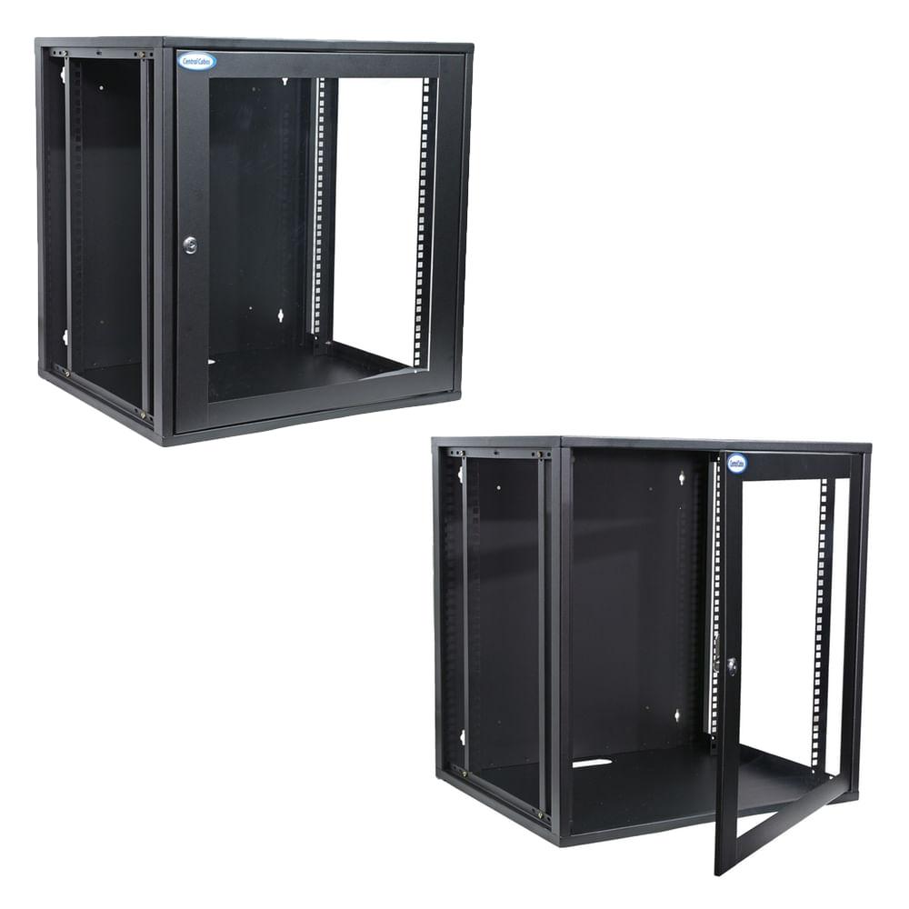 Mini-Rack-de-Parede12U-aberto