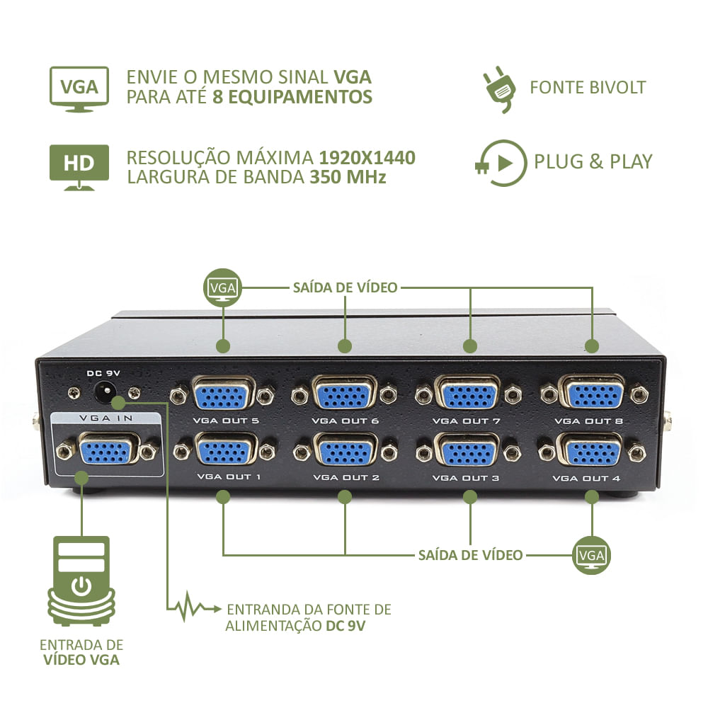 video-splitter-vga-com-8-portas-mtv-208-frente