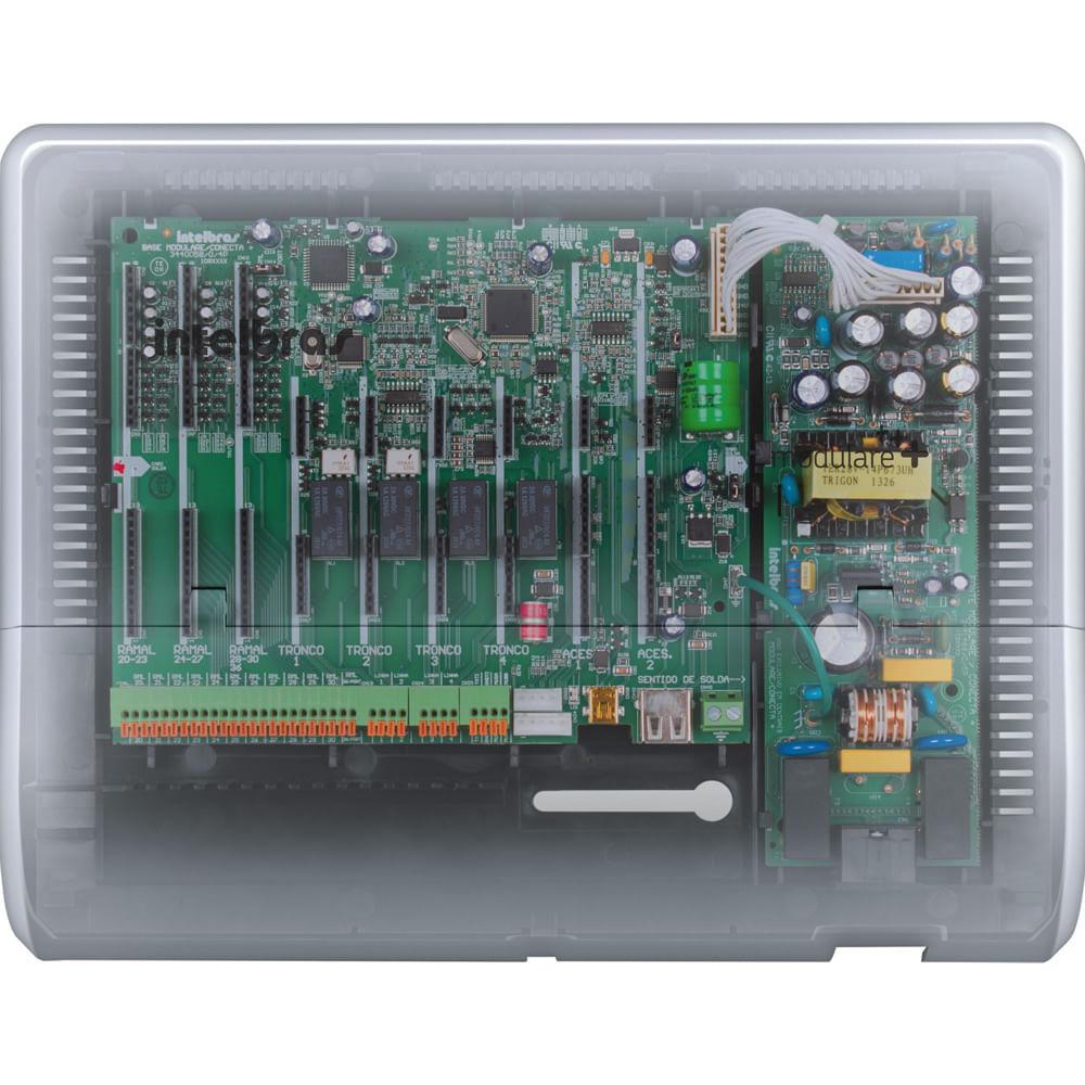 central-pabx-analogica-modulare-mais-placa