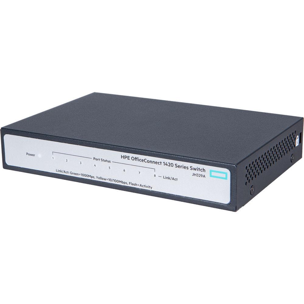 switch-gigabit-8-portas-jh329a-frente