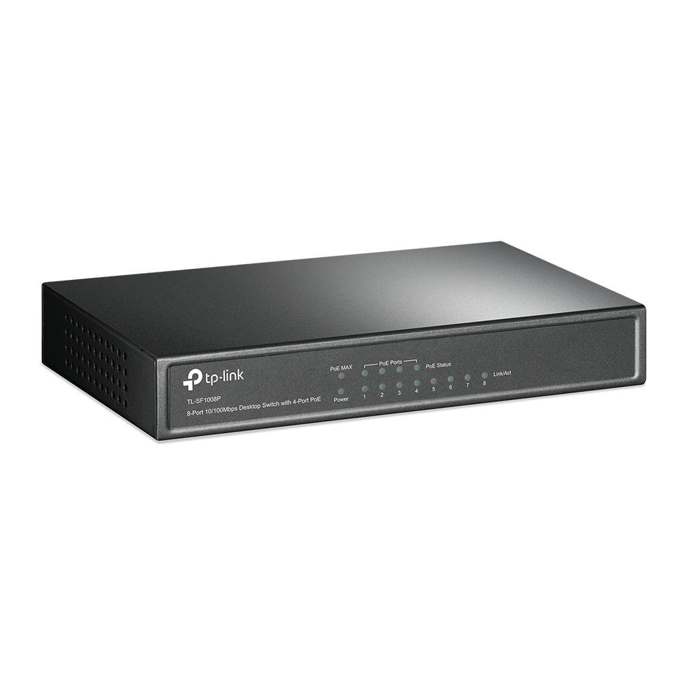 switch-ethernet-8-portas-tl-sf1008p-lado