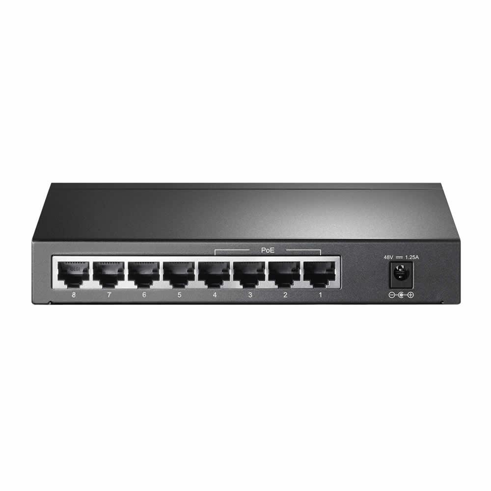 switch-gigabit-8-portas-com-4-portas-poe-tl-sg1008p-traseira