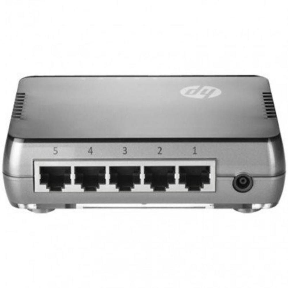 switch-gigabit-5-portas-jh407a-traseira