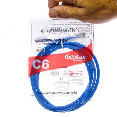 Patch Cord Cat6 GigaLan Azul 5 Metros
