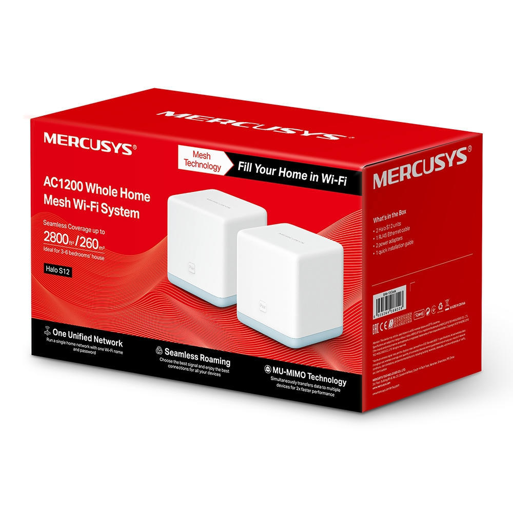 Roteador Wireless Mesh AC 1200 (2 Pack) Halo S12
