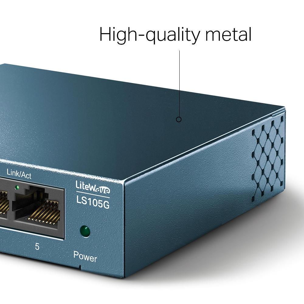 Switch Gigabit de Mesa com 5 portas LS-105
