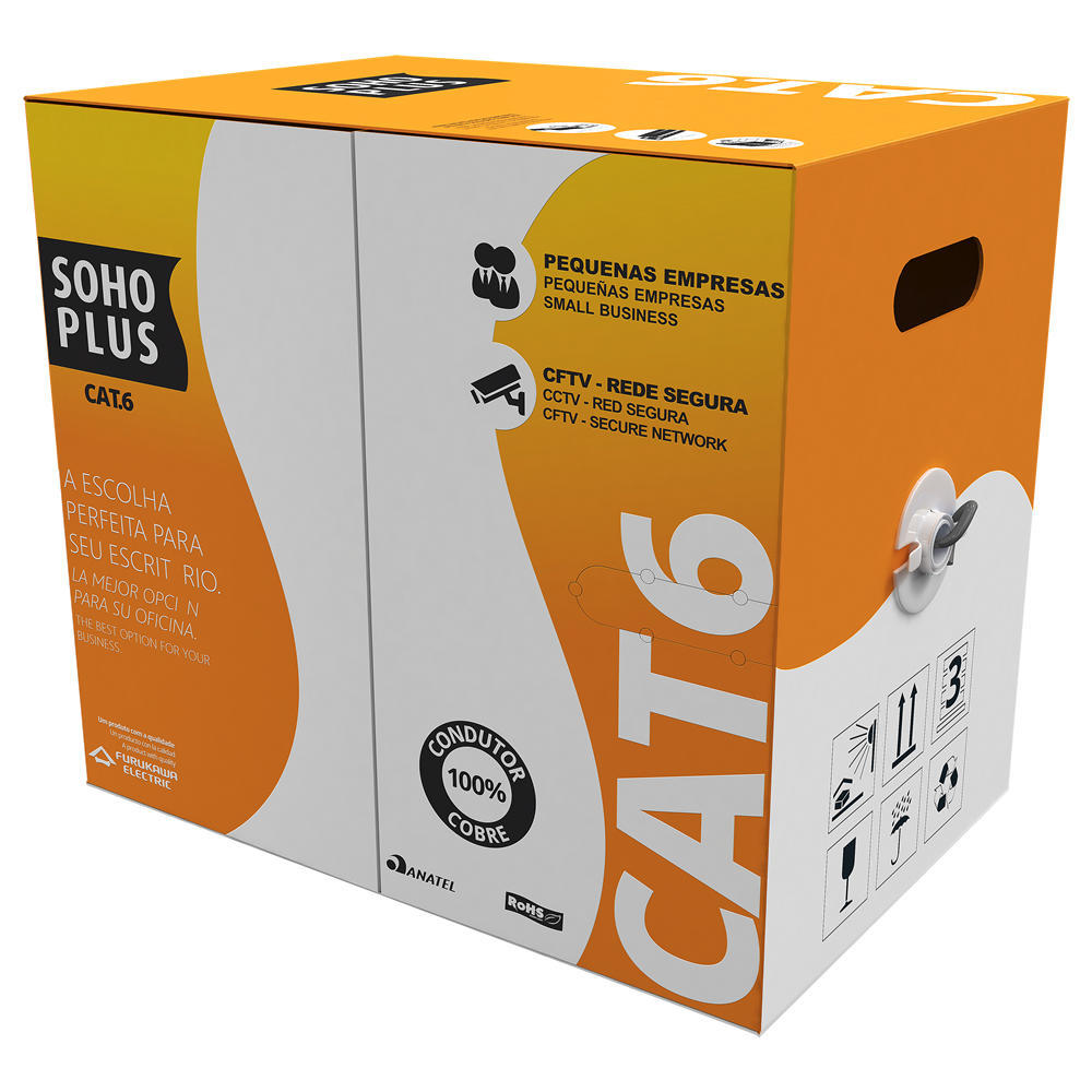 Cabo de Rede SohoPlus CAT.6 Cinza, 1 Metro
