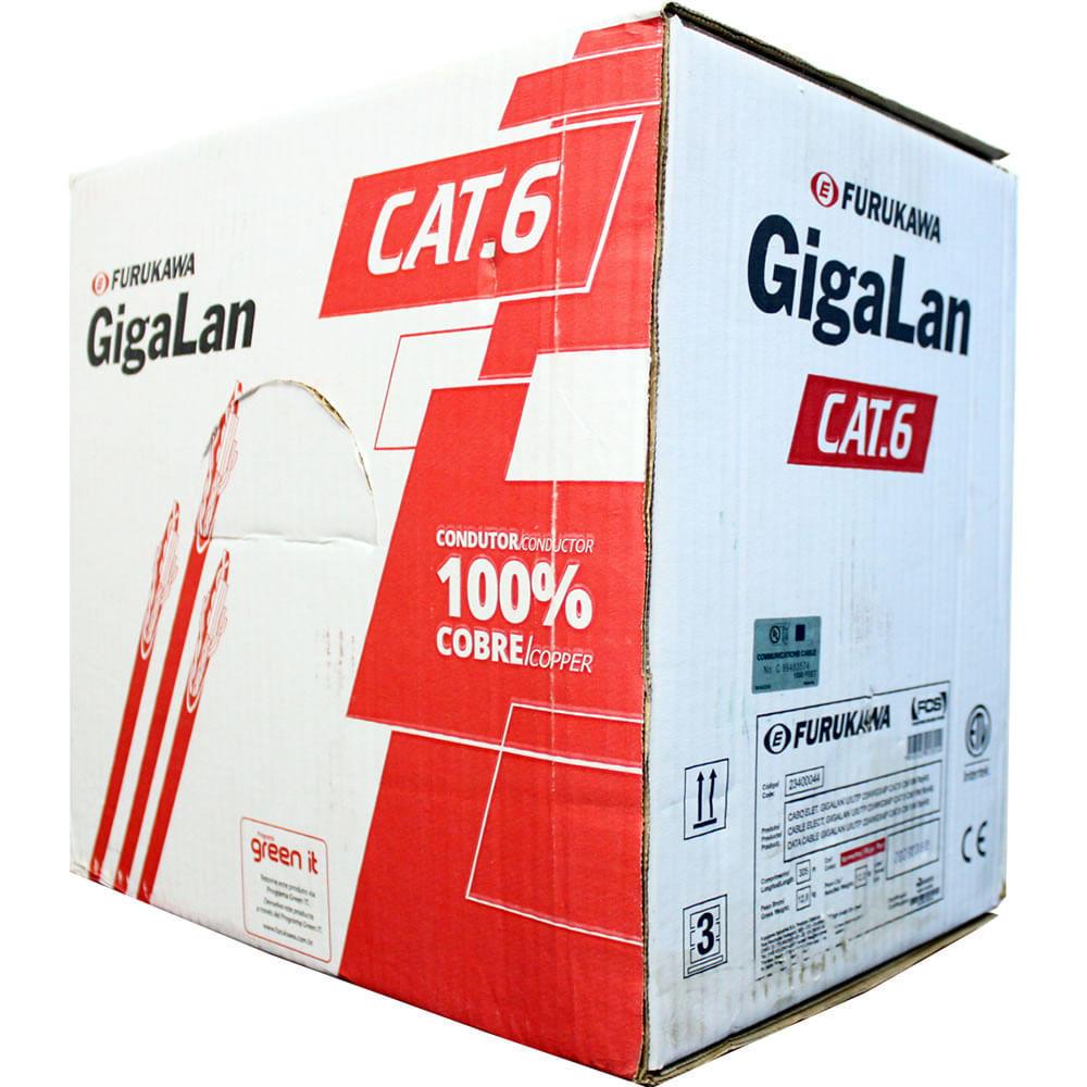 Cabo de Rede Cat6 Gigalan Vermelho Furukawa, 1 Metro