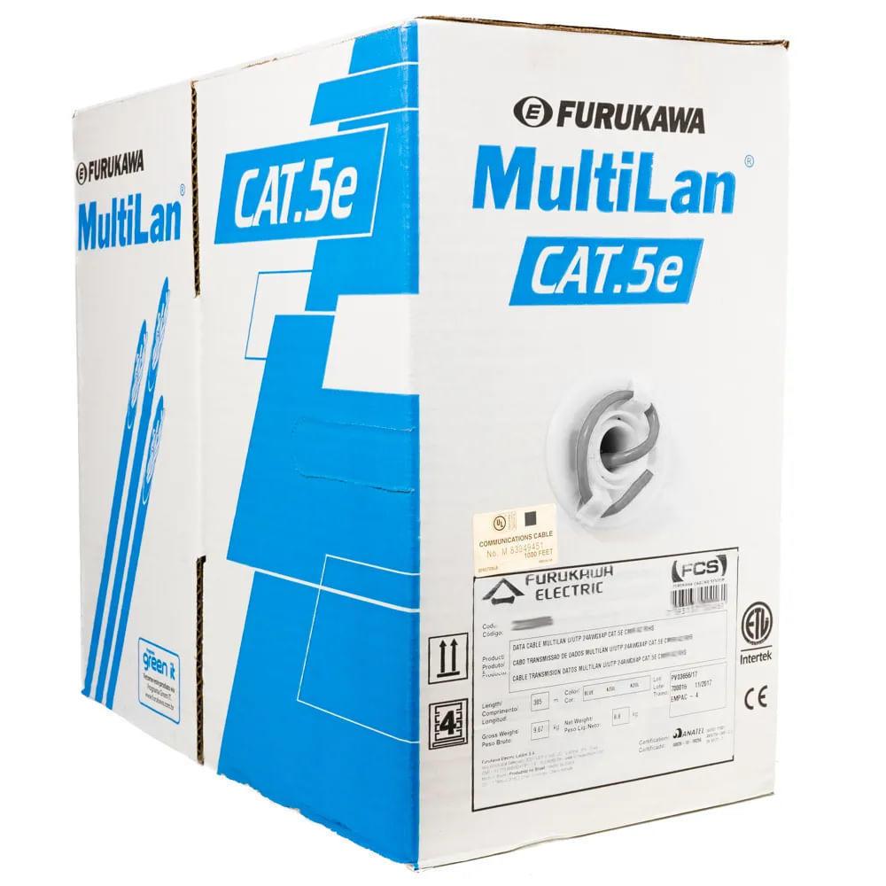 Cabo de Rede Cat5e Cinza CM MultiLan Furukawa, 1 Metro