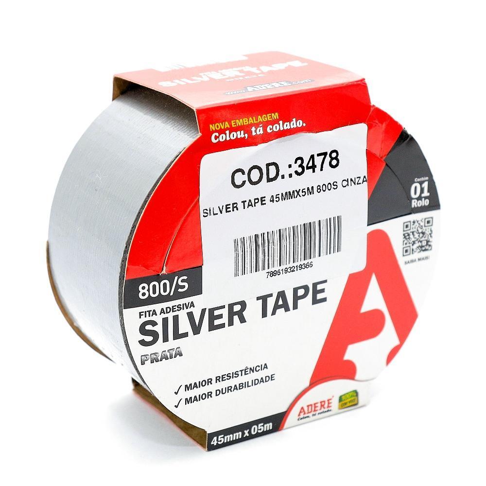 Silver tape 45mmx5m 800s cinza