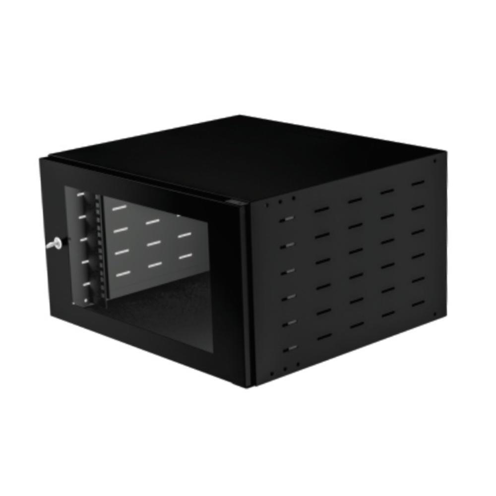Mini rack parede 6us x 500 preto - start - 6982