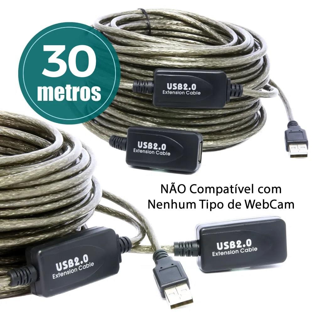 Cabo Extensor USB 2.0 Amplificado 30 Metros - 6916
