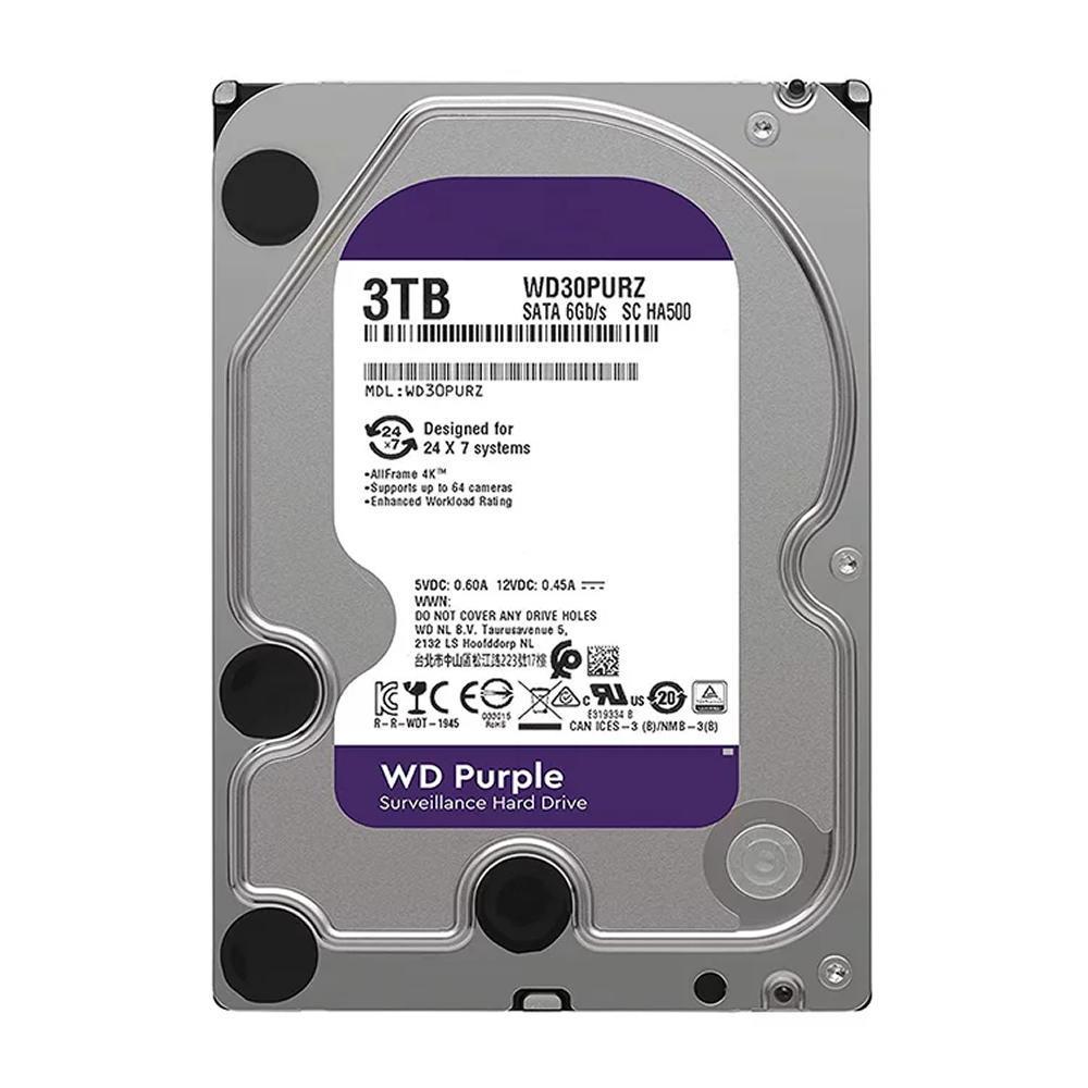 HD WD Purple 3TB de disco rígido de vigilância SATA 6 Gb WD30PURZ - 6938