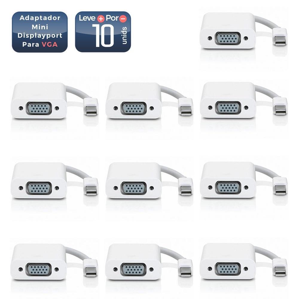 Adaptador Mini Displayport para VGA 10 Unidades - 1897_10 Adaptador Mini Displayport para VGA 10 Unidades - 1897-10