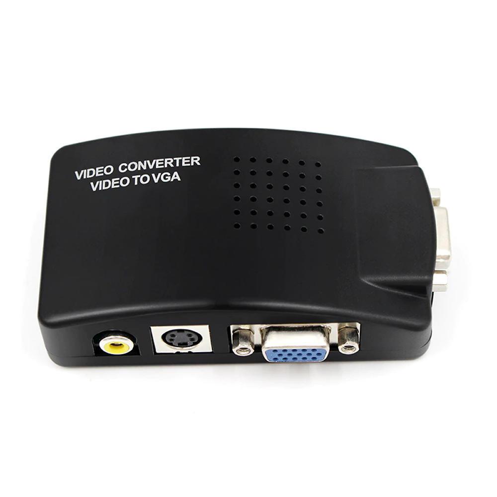 Conversor De Vídeo Av - S-video - Vga Para Vga - 1264