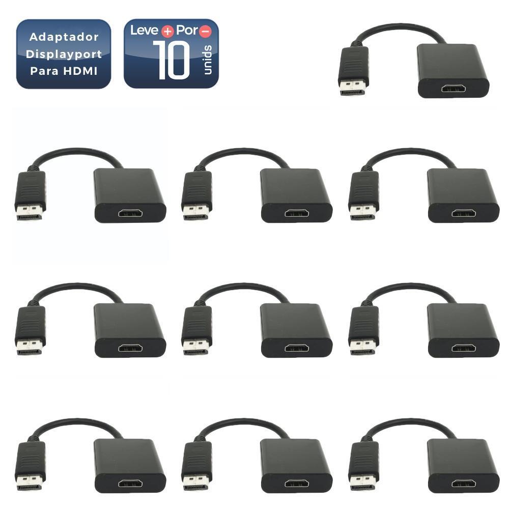 Adaptador displayport para hdmi 10 unidades - 413_10 Adaptador displayport para hdmi 10 unidades